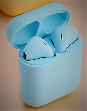 blue colored wireless pods PennySays