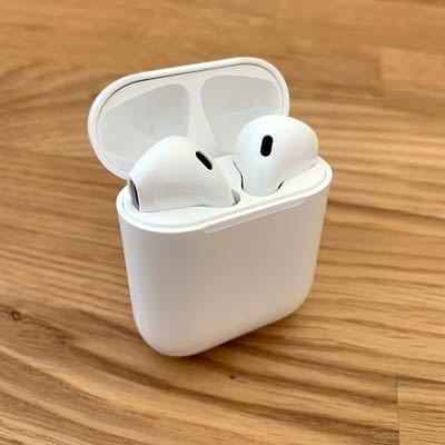 white wireless pods